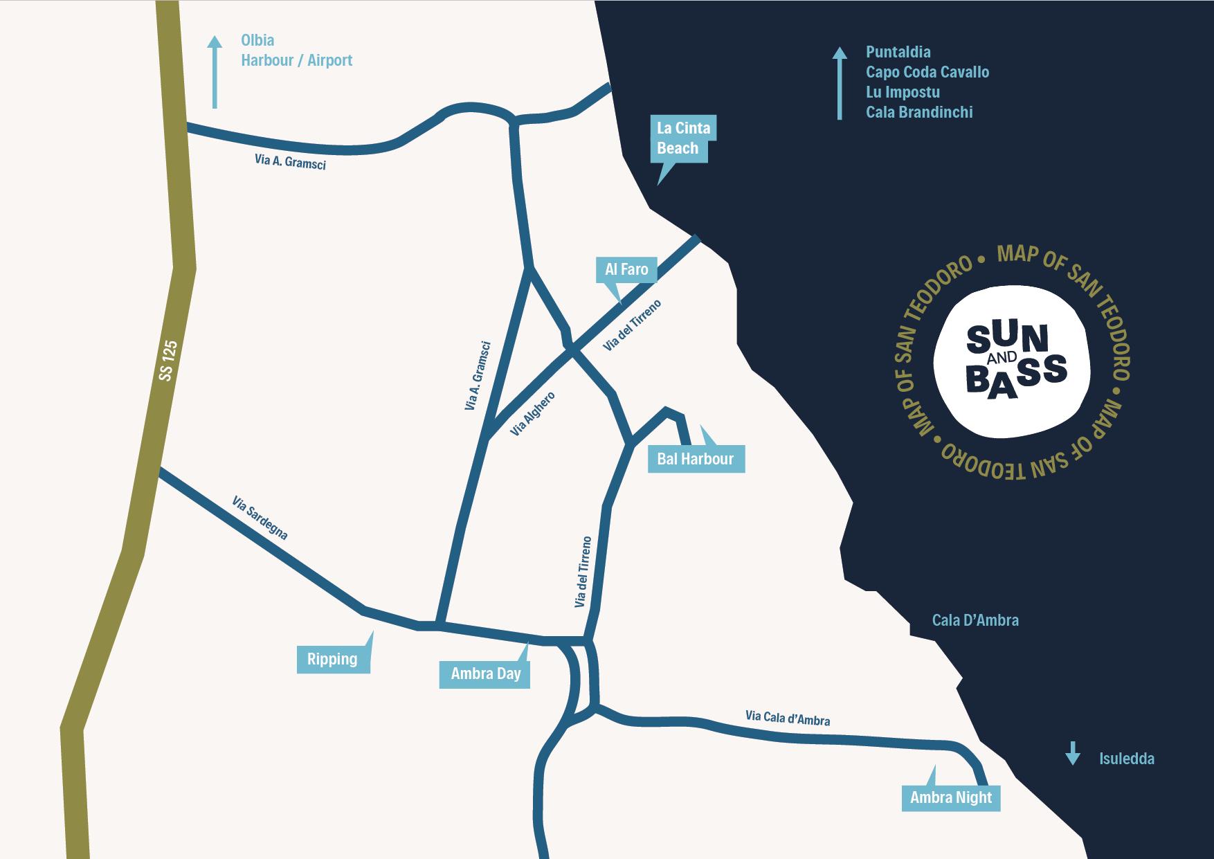 Cartina Di San Teodoro Sardegna.Sun And Bass San Teodoro 2020 Non Si Fara